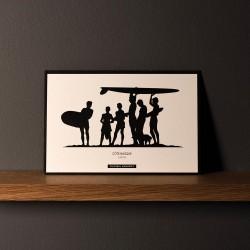 "Postcard ""SURFERS"""