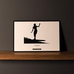 "Postcard ""SURF CROSS STEP"""