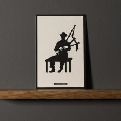 "Postcard ""CORNEMUSE"""