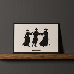 "Postcard ""DANSEURS"""