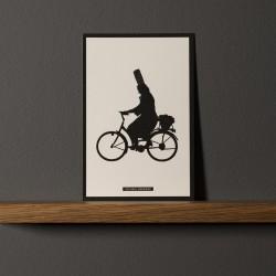 """Postcard """"BIGOUDÈNE À VÉLO"""""""