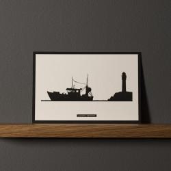 "Postcard ""BATEAU DE PÊCHE"""