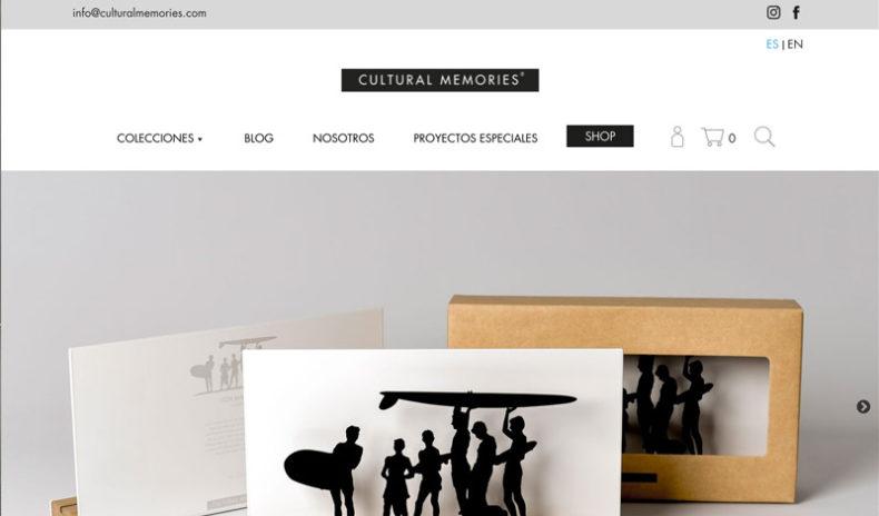 nueva web corporativa para cultural memories