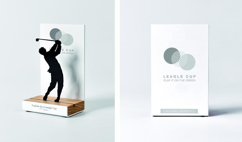 trofeo personalizado para torneo de golf en francia