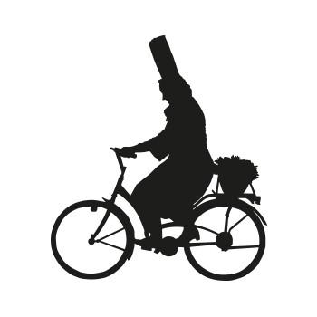 Bigoudène à vélo